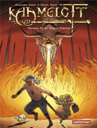 Couverture Kaamelott tome 4 - perceval et le dragon d'airain