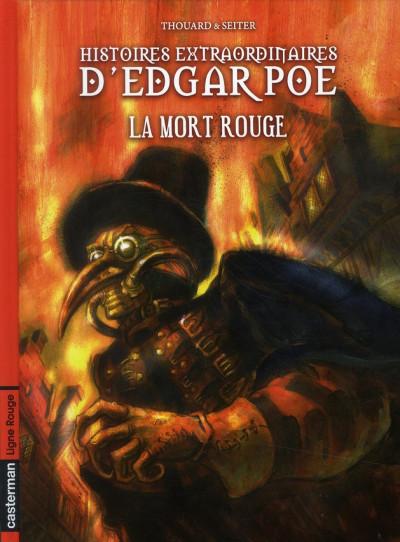 Couverture Histoires extraordinaires d'Edgar Poe tome 3 - la mort rouge