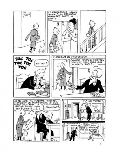 Page 2 Tintin tome 8 - le sceptre d'ottokar (fac-similé N&B 1942)