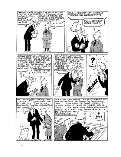 Page 3 Tintin tome 8 - le sceptre d'ottokar (fac-similé N&B 1942)