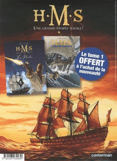Couverture h.m.s. - his majesty's ship tome 1 + tome 5
