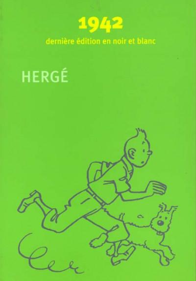Couverture Tintin - coffret fac similes en noir et blanc tome 1 a tome 8