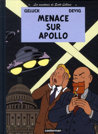 Couverture Les aventures de Scott Leblanc tome 2 - menace sur Apollo