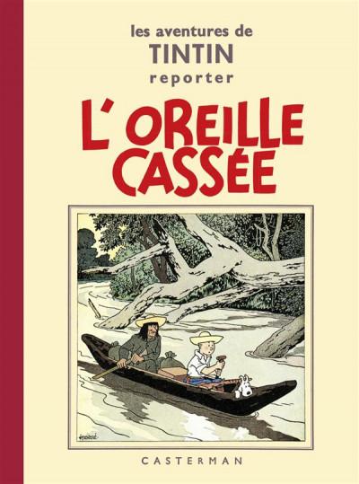Couverture Tintin tome 6 - l'oreille cassée (fac-similé N&B 1935-37 - Petit format)