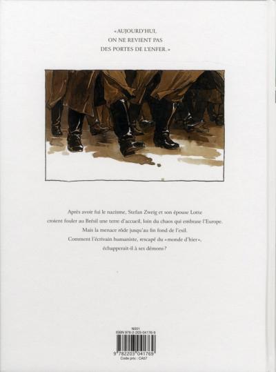 Dos Les derniers jours de Stefan Zweig