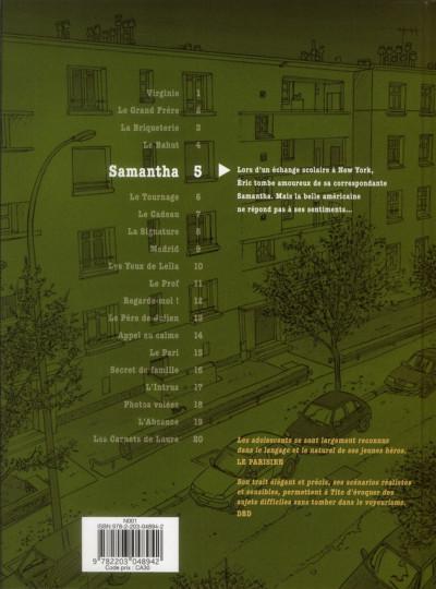 Dos Tendre banlieue tome 5 - Samantha