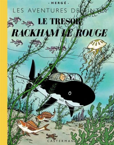 Couverture Tintin tome 12 - le trésor de Rackham le rouge (fac-similé couleurs - format géant)