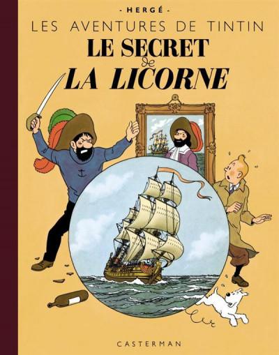 Couverture Tintin tome 11 - le secret de la licorne (fac-similé couleurs - format géant)