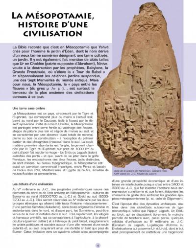 Page 2 les voyages d'Alix ; Babylone, Mésopotamie