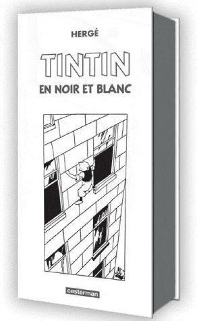 Couverture Tintin coffret mini-albums noir et blanc