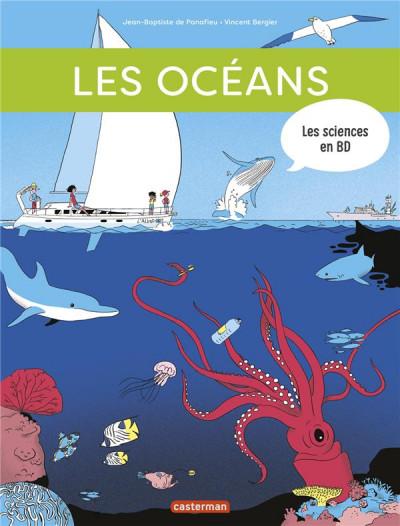 Couverture Les sciences en BD - Les océans