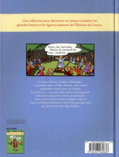 Dos L'histoire de France en bd tome 1 - Vercingétorix et les Gaulois