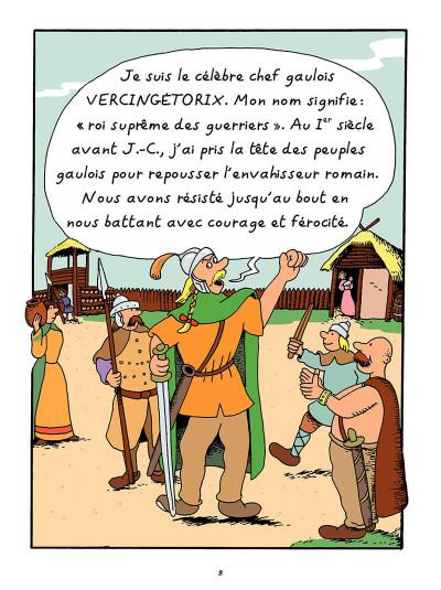 Page 2 L'histoire de France en bd tome 1 - Vercingétorix et les Gaulois