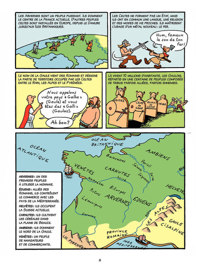 Page 4 L'histoire de France en bd tome 1 - Vercingétorix et les Gaulois