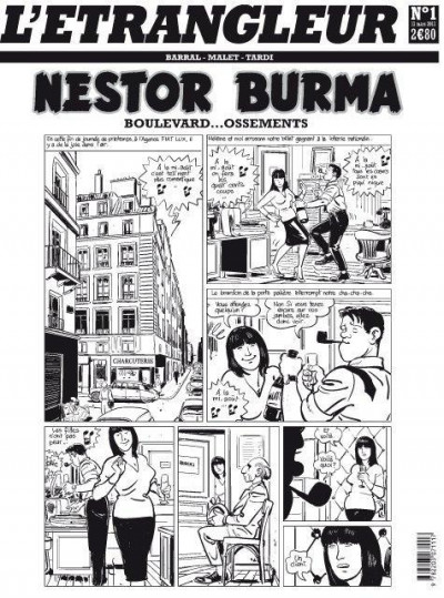Couverture l'étrangleur - Nestor burma - boulevard... ossements - Journal tome 1/3