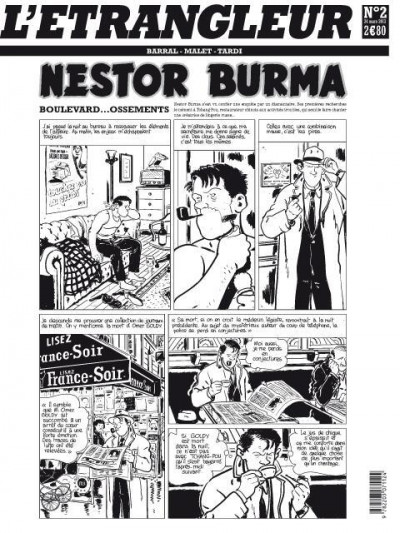 Couverture l'étrangleur - Nestor burma - boulevard... ossements - Journal tome 2/3
