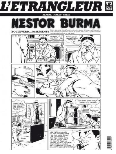 Couverture l'étrangleur - Nestor burma - boulevard... ossements - Journal tome 3/3