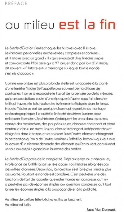 Page 1 Le siecle d'Eva