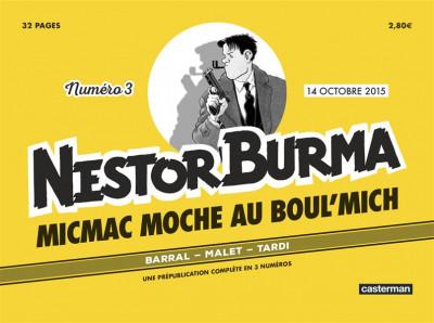 Couverture Nestor Burma Journal tome 3