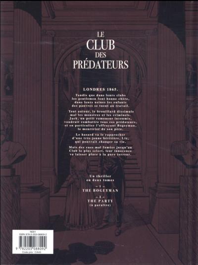 Dos Le club des prédateurs tome 1