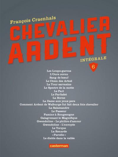 Page 1 Chevalier Ardent - intégrale tome 6 (nouvelle édition)