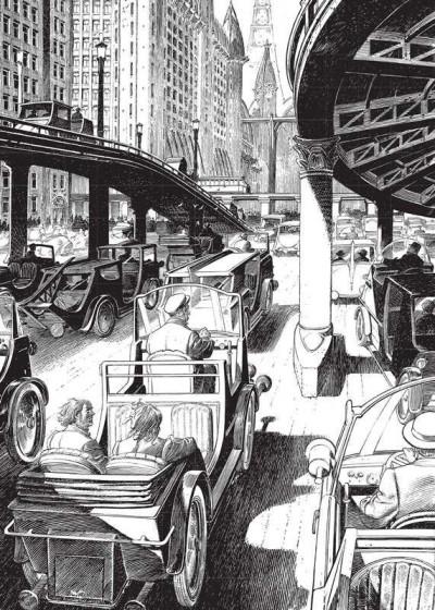 Page 4 Images de Francois Schuiten : des cités obscures à la ville lumière (grand format)