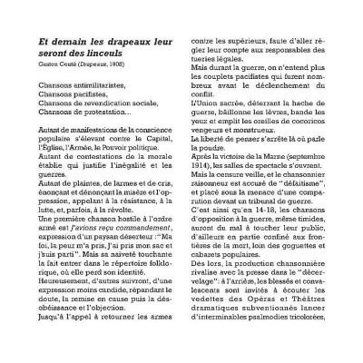 Page 1 Chansons contre la guerre