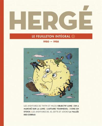 Couverture Hergé - Le feuilleton intégral - 1950-1958