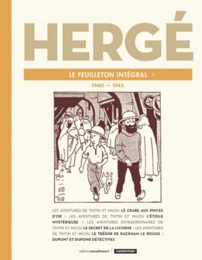 Couverture Hergé - Le feuilleton intégral - 1940-1943