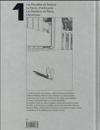 Dos Les cités obscures - intégrale tome 1