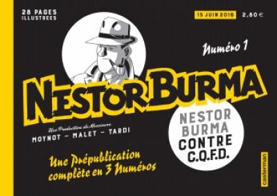Couverture Nestor Burma contre CQFD - journal tome 1