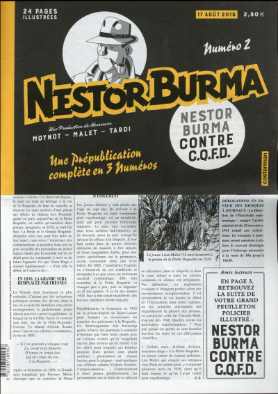 Couverture Nestor Burma contre CQFD - journal tome 2
