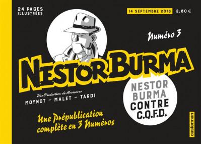 Couverture Nestor Burma contre CQFD - journal tome 3