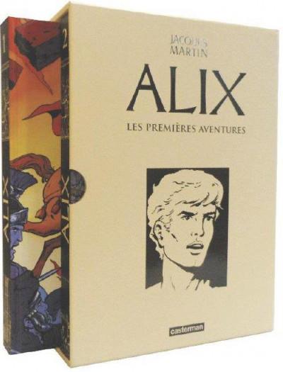 Couverture Alix - coffret recueils les premières aventures