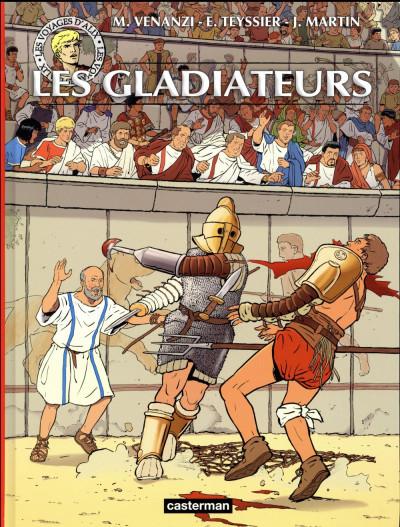 Couverture Les voyages d'Alix - les gladiateurs