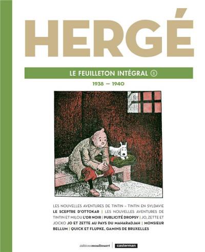 Couverture Hergé - Le feuilleton intégral tome 8 - 1939-1940
