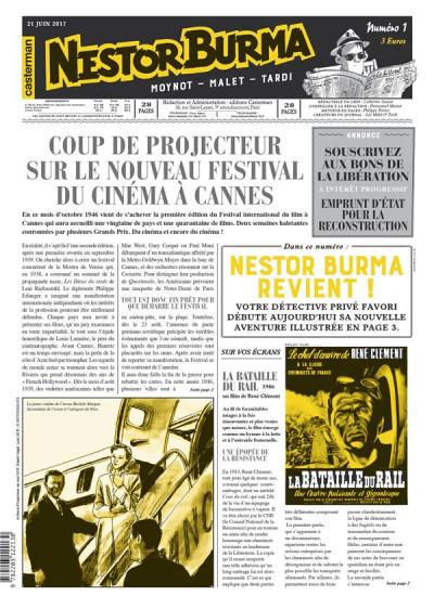 Couverture Nestor Burma - L'homme au sang bleu - journal tome 1