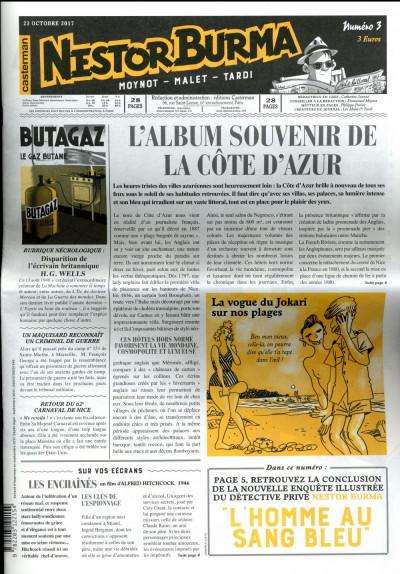 Couverture Nestor Burma - L'homme au sang bleu - journal tome 3