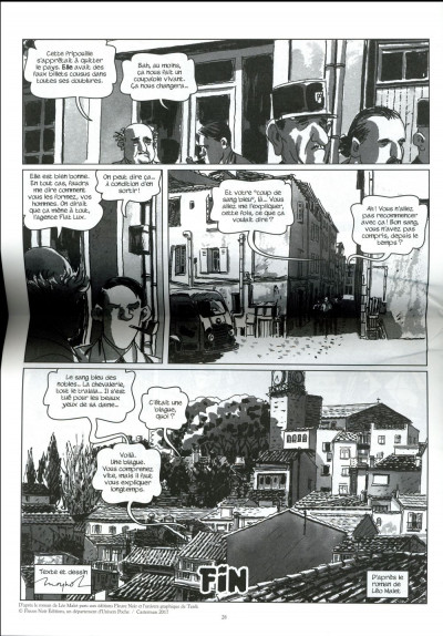 Dos Nestor Burma - L'homme au sang bleu - journal tome 3