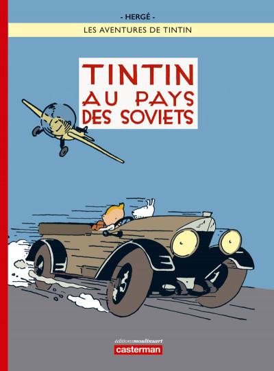 Couverture Tintin tome 1 - Tintin au pays des Soviets (couleur)