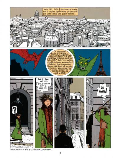 Page 1 Adèle Blanc-Sec tome 3 - Le savant fou (édition 2017)