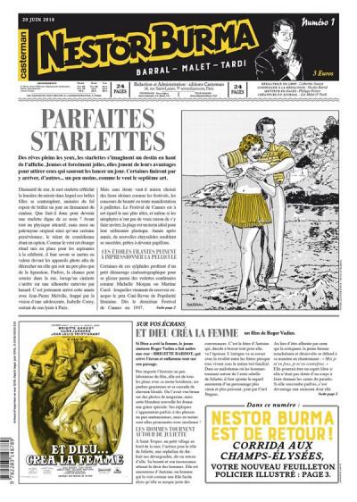 Couverture Nestor Burma - Corrida aux Champs Elysées - journal tome 1