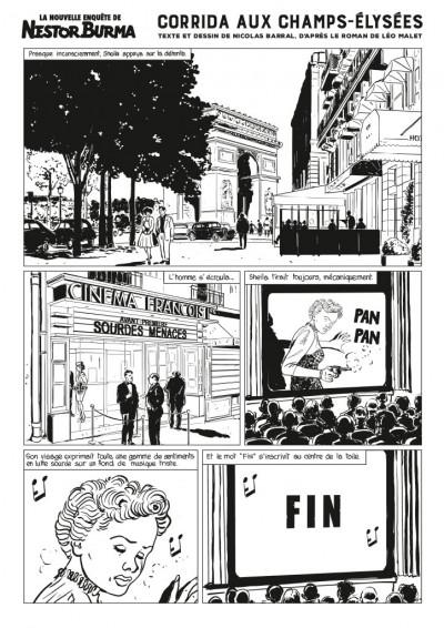 Page 1 Nestor Burma - Corrida aux Champs Elysées - journal tome 1