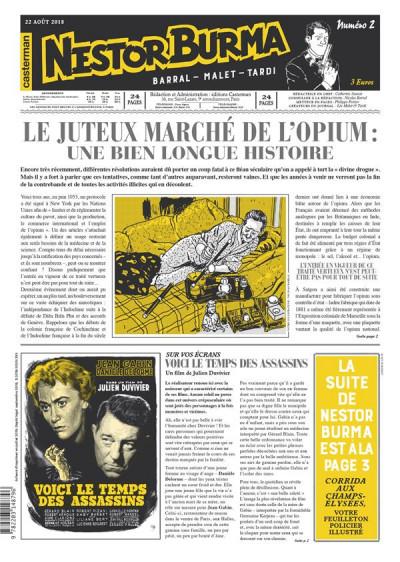 Couverture Nestor Burma - Corrida aux Champs Elysées - journal tome 2