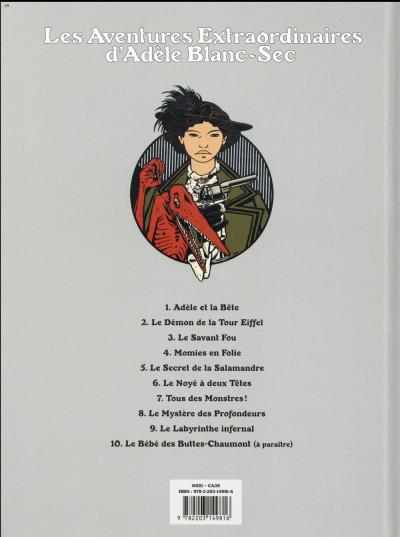 Dos Adèle Blanc-Sec tome 4 (édition 2018)