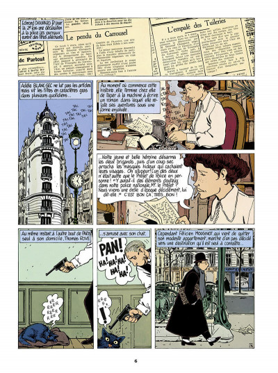 Page 7 Adèle Blanc-Sec tome 4 (édition 2018)