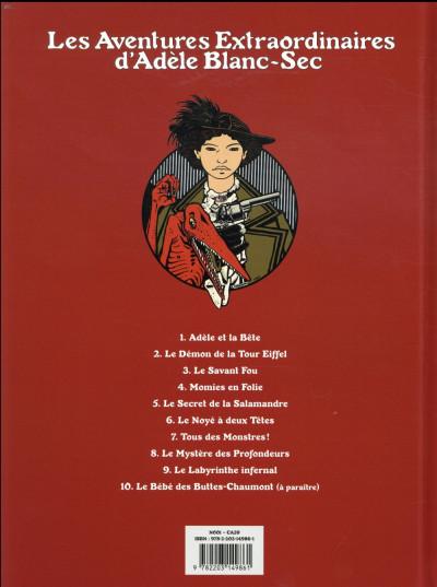 Dos Adèle Blanc-Sec tome 5 (édition 2018)