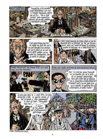 Page 4 Adèle Blanc-Sec tome 5 (édition 2018)