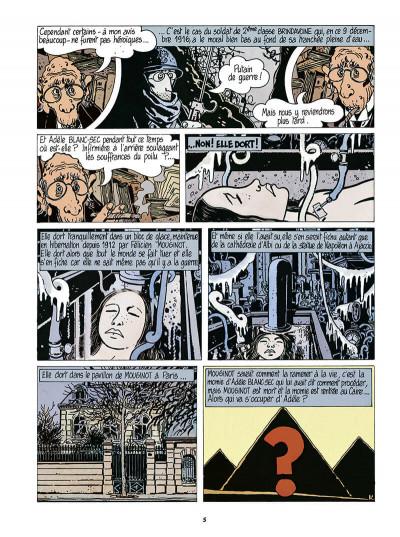 Page 6 Adèle Blanc-Sec tome 5 (édition 2018)