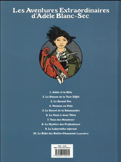 Dos Adèle Blanc-Sec tome 6 (édition 2018)